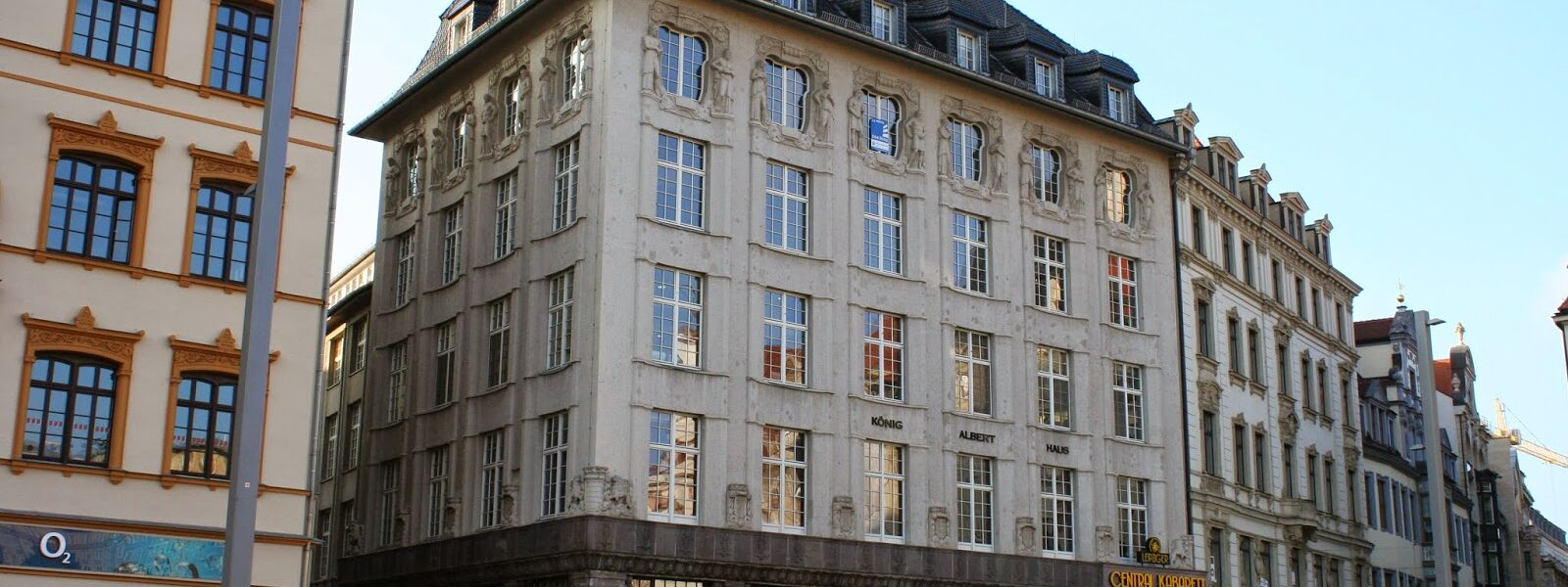 König-Albert-Haus am Leipziger Markt gegenüber dem Alten Rathaus