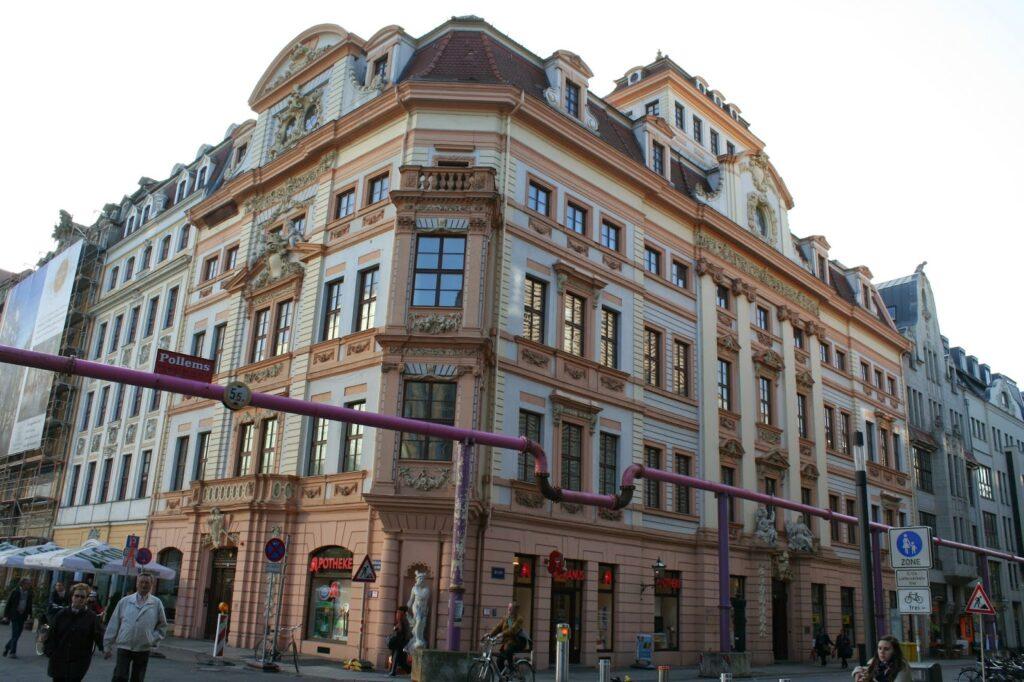 Romanushaus Leipzig an der Ecke Brühl/Katharinenstrasse