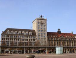 Krachhochhaus am Leipziger Augustusplatz - das erste Hochhaus der Stadt