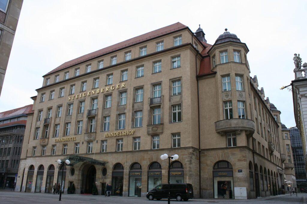 """ehemaliges Messehaus """"Handelshof"""" in Leipzig"""