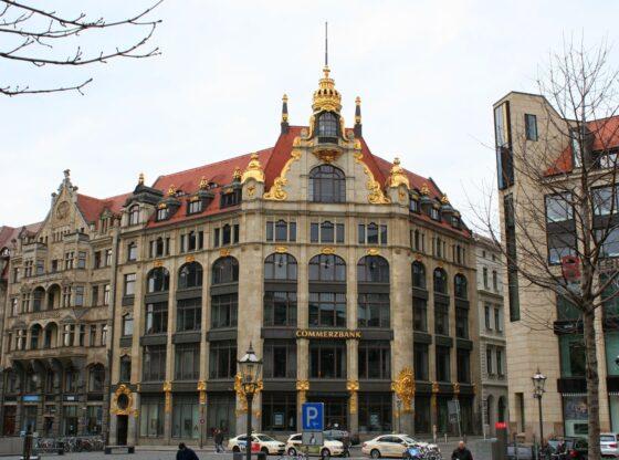 Commerzbankgebäude ehem. Kaufhaus Ebert in der Leipziger Innenstadt