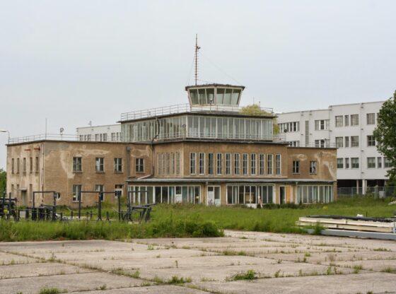 Empfangsgebäude am alten Mockauer Flughafen in Leipzig