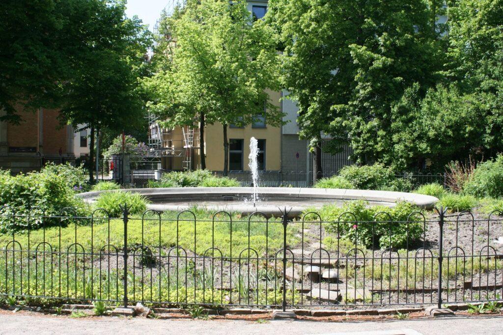 Springbrunnen am Marienplatz