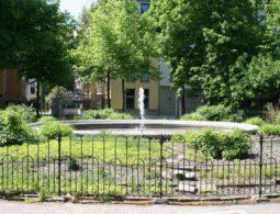 Springbrunnen am Leipziger Marienplatz