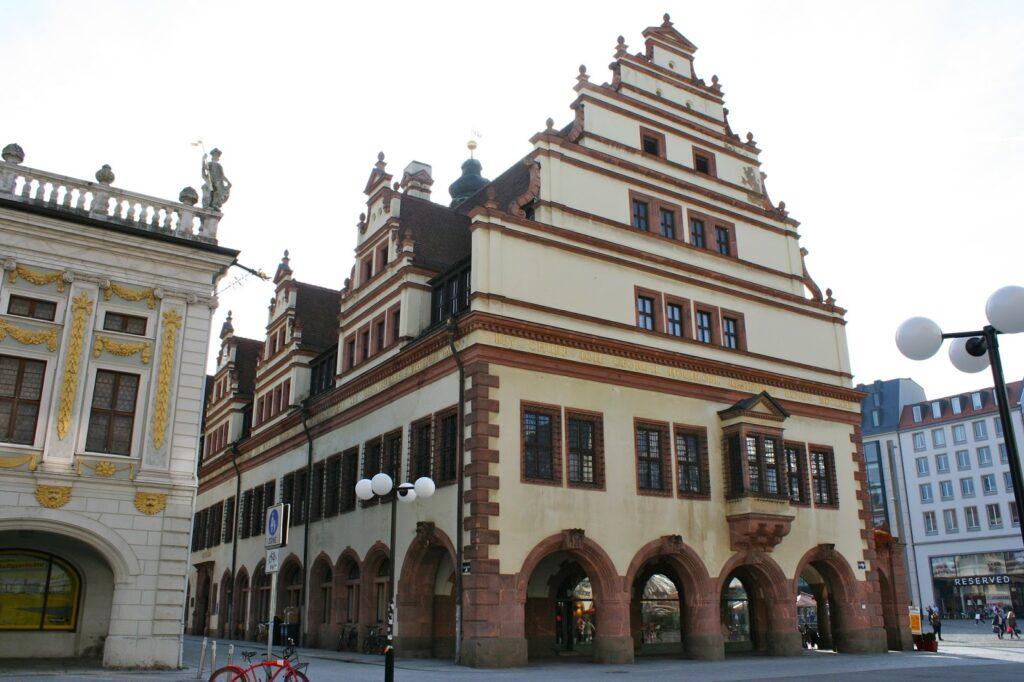Altes Rathaus Leipzig hintere Seite zum Naschmarkt