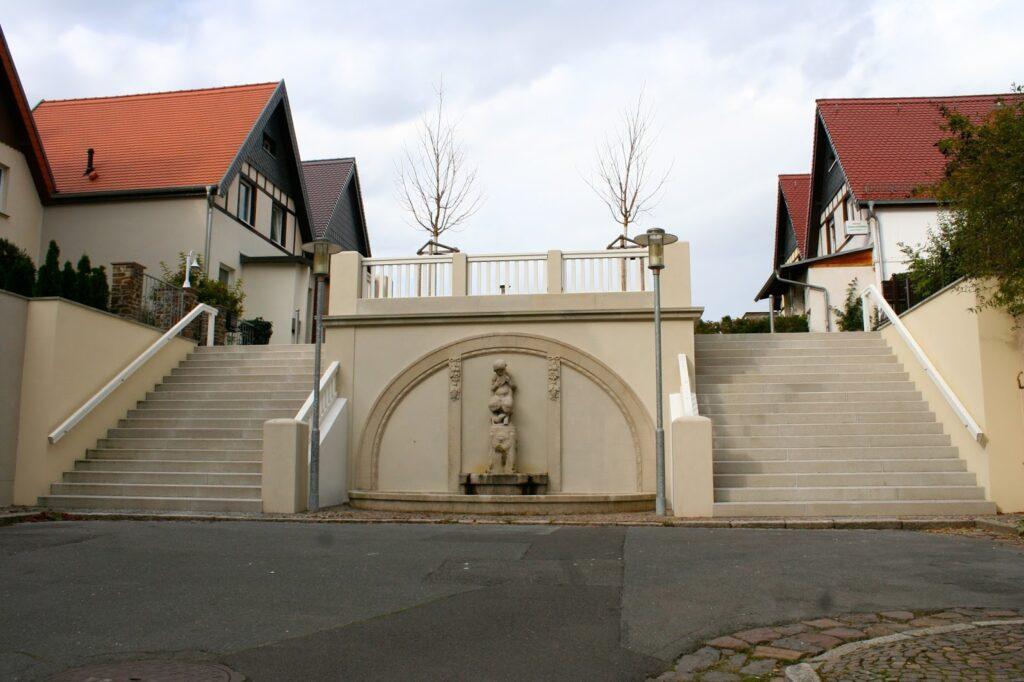 Wandbrunnen Jungfernstiege in Lützschena