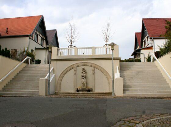 Wandbrunnen an der Jungfernstiege in Lützschena