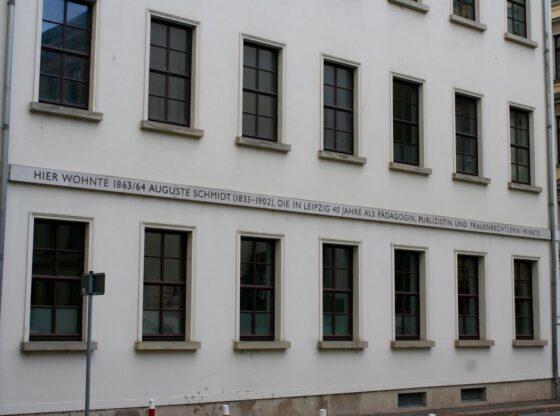 Wohnhaus Auguste Schmidt Leipzig 1833-1902- Frauenrechtlerin, Pädagogin