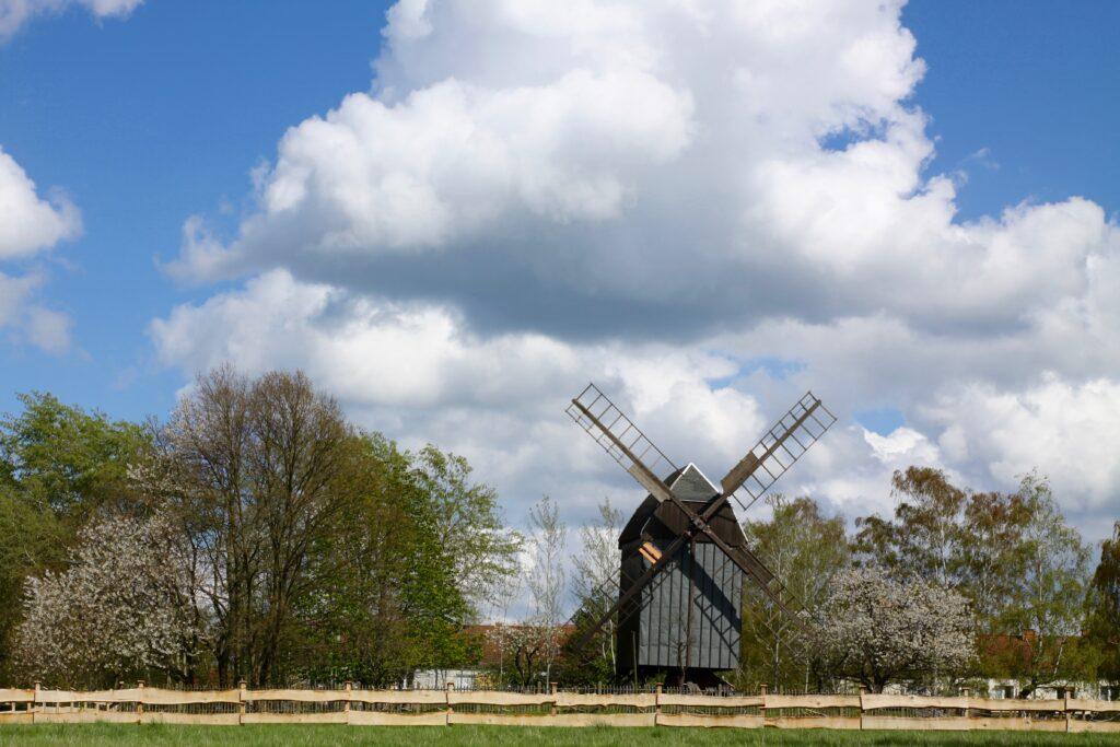 Bockwindmühle auf dem Steinberg Leipzig Holzhausen