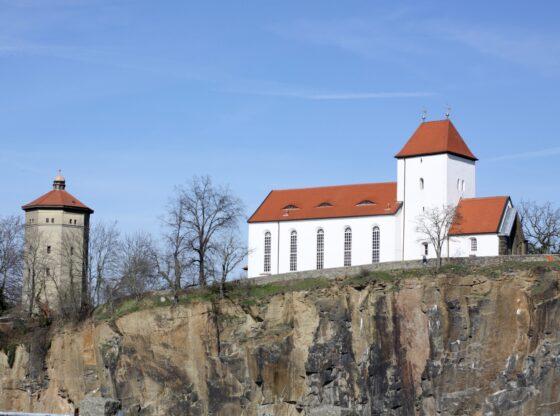 Wasserturm und Bergkirche Beucha