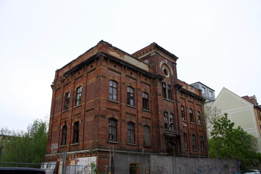 Hauptgebäude der ehemaligen Pianoforte-Mechanik-Fabrik H. F. Flemming in Leutzsch