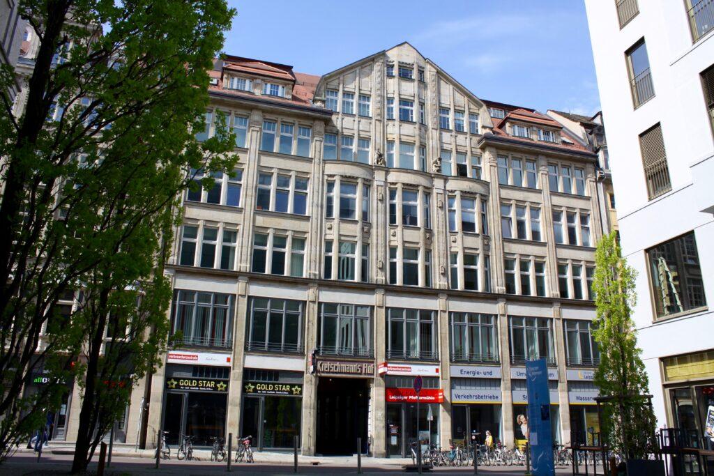 Kretschmanns Hof in der Leipziger Innenstadt - 1910 bis 1912 nach einem Entwurf von Max Fricke erbaut