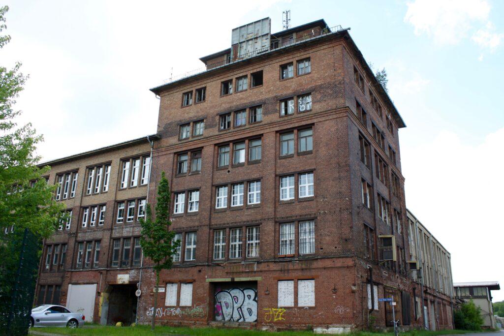 ehemalige Gießerei Fabrik von Meier und Weichelt in Großzschocher - im Jahr 1895 wurde das Gelände erstmals durch die Stahlform- und Tempergießerei Ludwig & Leu bebaut