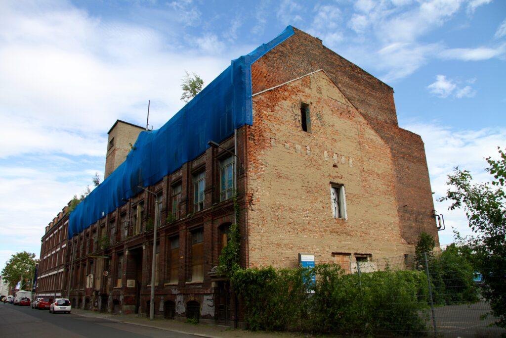 alte Industriebauten in der Naumburger Straße 25 - hier die ehemalige Fabrik der Maschinen- und Eisenhandlung Törpsch