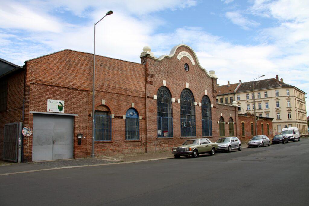 ehem. Eisengroßhandlung und Eisenbau C. F. Weithas in der Gießerstraße 29 Plagwitz - hier die repräsentative Montagehalle aus dem Jahr 1910 bis 1912
