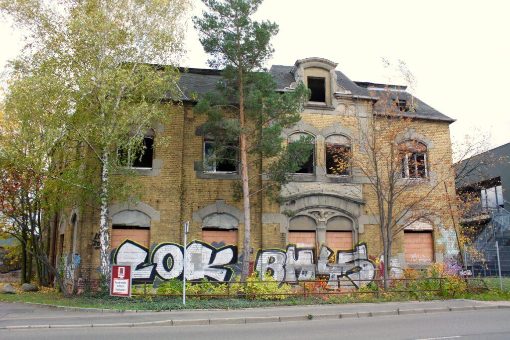 Wohnhaus der ehemaligen Maschinenfabrik Robert Kiehle in Mölkau