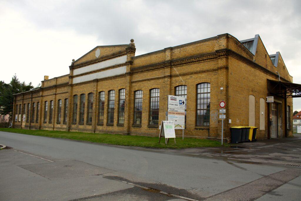 1920 erbaute Fabrikhalle - ehemalige Produktionsstätte der Matratzenfabrik von Alfred Hüttner