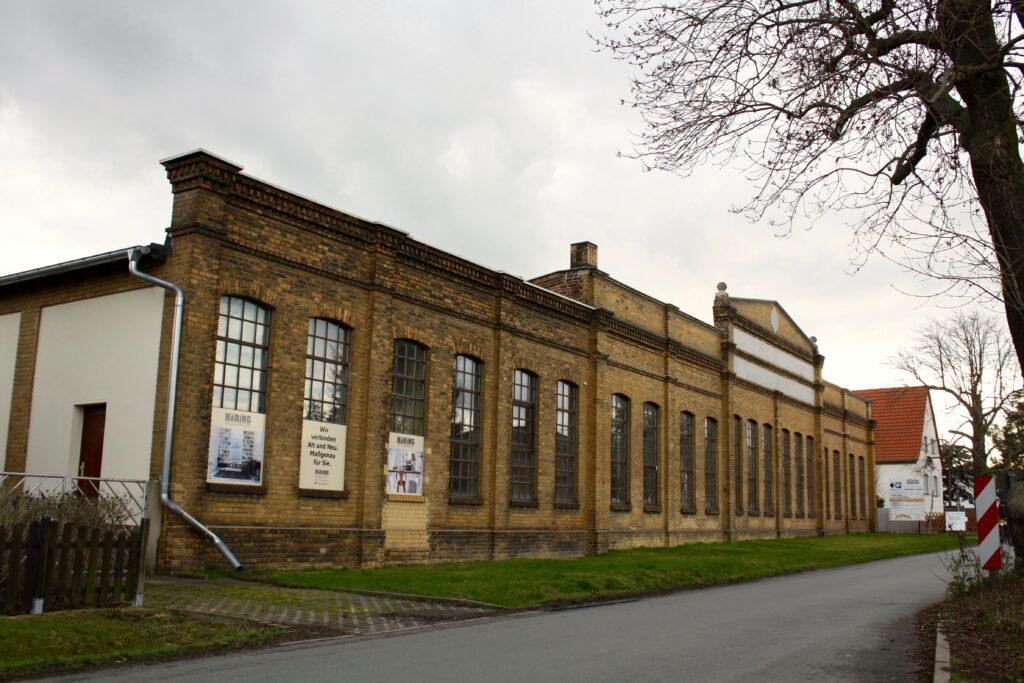 ehemalige Fabrikhalle der Matratzenfabrik von Alfred Hüttner in Mölkau