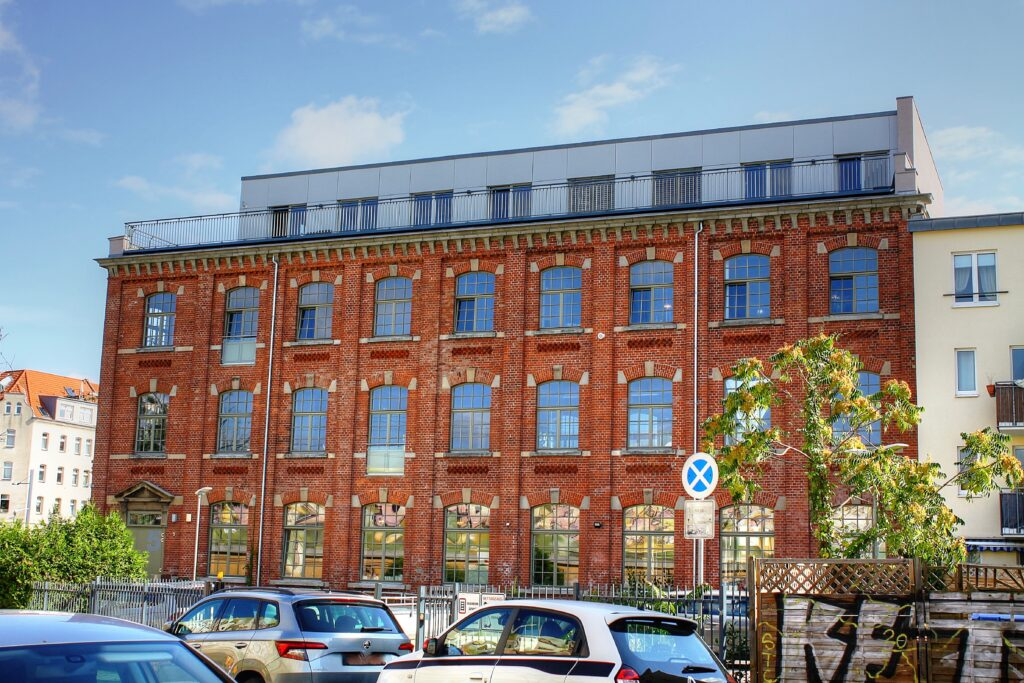 ehem. Spitzenfabrik Barth & Co. im Stadtteil Lindenau